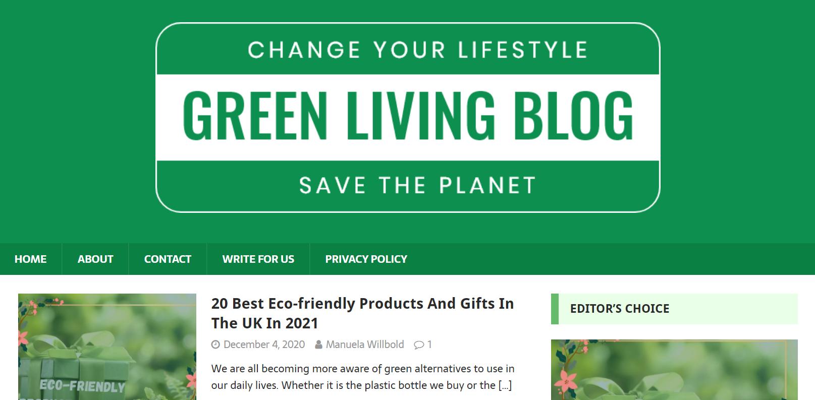 privater-blog-von-einem-pbn-netzwerk-für-grüner-leben-inhalte
